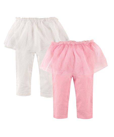 3aee6bcfe2278 Hudson Baby Light Pink & White Tutu Leggings Set - Infant | Zulily