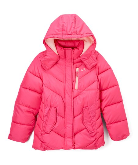 573ed7011 Vertical 9 Fuchsia   Light Pink Quilted Puffer Jacket - Toddler ...