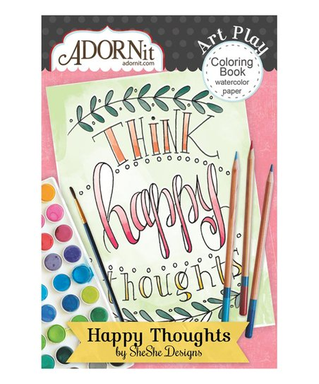 ADORNit Happy Thoughts Mini Watercolor Coloring Book | zulily