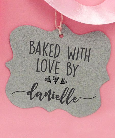 7da9c9554f58 Stamp Out Online 'Baked With Love' Three Hearts Personalized Stamp