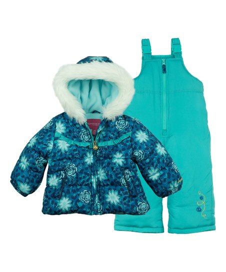 4d8210f0fb38 London Fog Turquoise Snow Pants   Ski Jacket - Infant