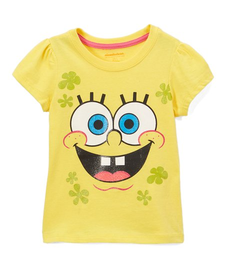 0851c7fb7 Childrens Apparel Network SpongeBob SquarePants Yellow Face Tee ...