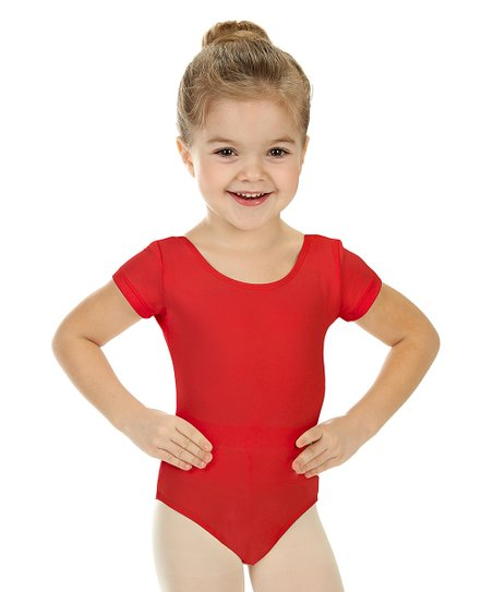 love this product Red Short-Sleeve Leotard - Toddler   Girls 93421bb10