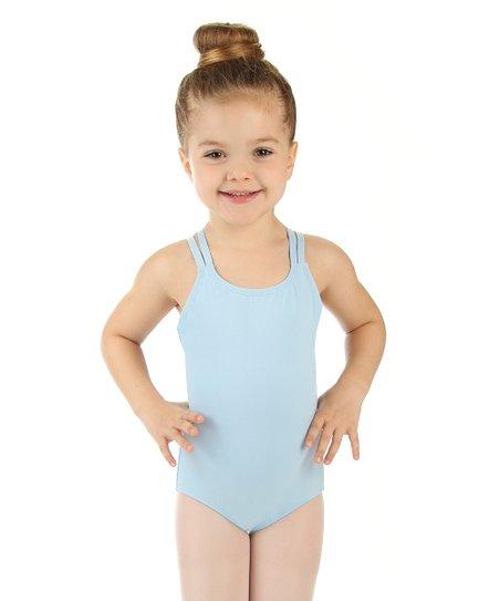 706a133b6 Elowel Light Blue Double-Strap Camisole Leotard - Toddler   Girls ...