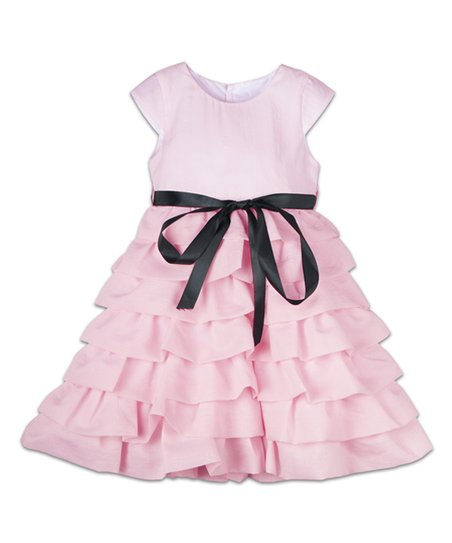 0be042149df777 Joe-Ella Pink Organza Chiffon Tiered Dress - Infant   Toddler