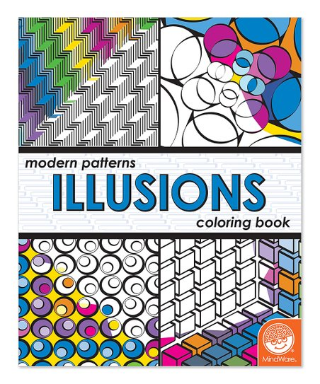 MindWare Modern Patterns: Illusions Coloring Book   Zulily