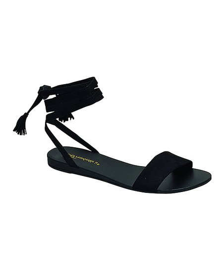 c72839c74208 Breckelles Black Aloha Sandal