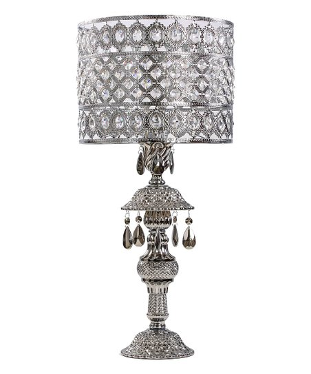 River Of Goods Silver Crystal Ornate Table Lamp Zulily