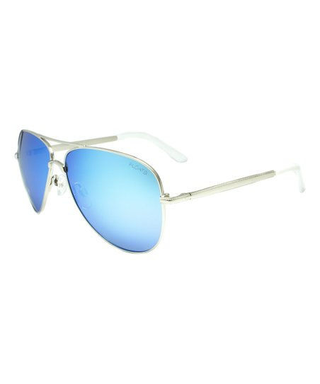 4f6700104b Floats Polarized Silver & Blue Mirror Polarized Aviator Sunglasses