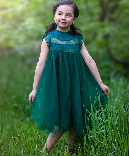 Dark Green Magnolia Dress Toddler S