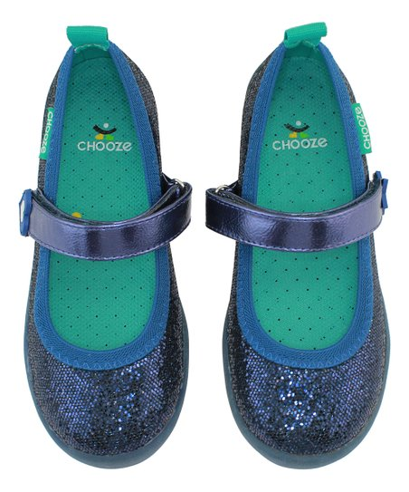 c2266c98 CHOOZE Glow Navy Glitter Jump Mary Jane - Girls | Zulily