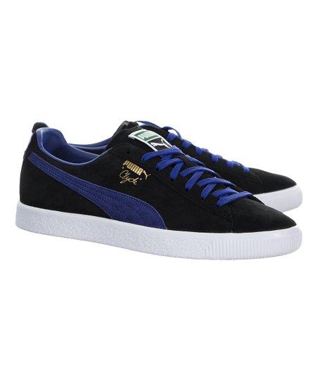official photos 25424 2fb79 PUMA PUMA® Black & Electric Blue Lemonade Clyde Suede Sneaker