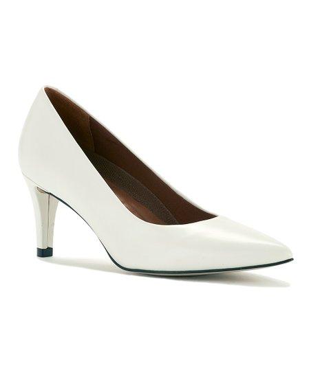 c39a9a3eca Walking Cradles White Cashmere Sophia Leather Pump | Zulily