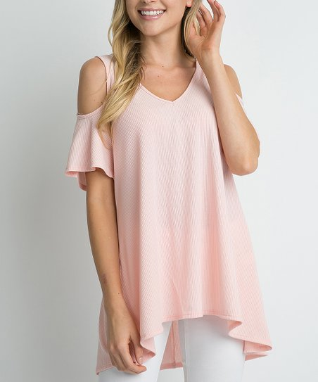 050bec006f6d0f love this product Rose Top Cold-Shoulder Top