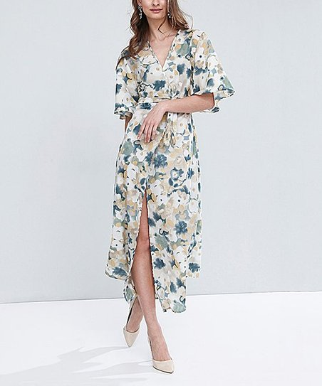 51421d438b9 love this product White Floral Wrap Maxi Dress