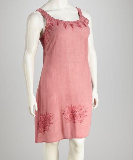 Raya Sun Rose Acid Wash Plus-Size Dress | Zulily