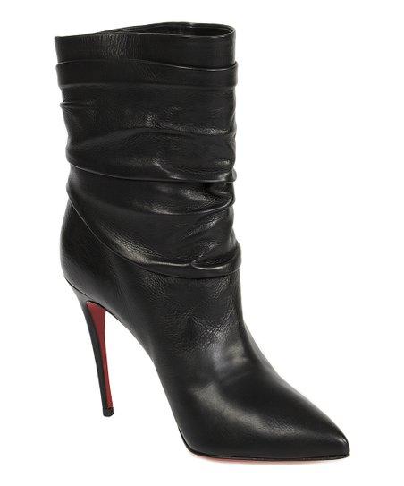 Black Ishtar Leather Stiletto Bootie