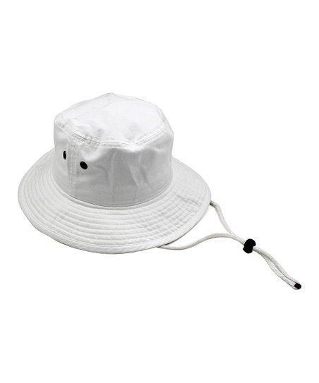 16d9dd2f Quagga Accessories White Drawstring Bucket Hat | Zulily