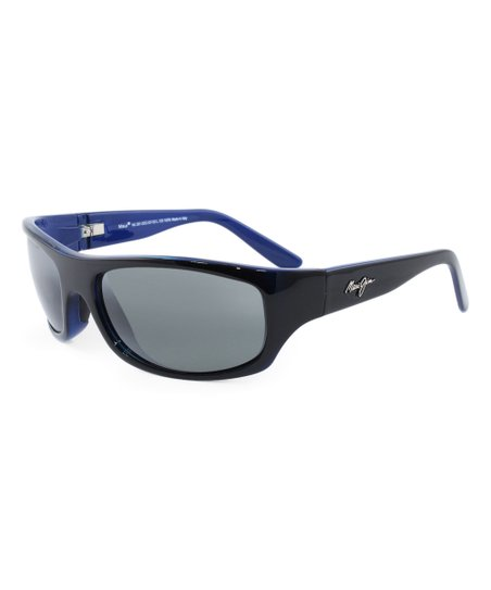f03af1b5a0b3 Maui Jim Black-Blue & Neutral Gray Surf Rider Sport Sunglasses | Zulily