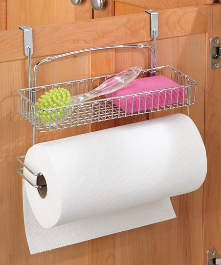 Idesign Chrome Over The Cabinet Paper Towel Holder