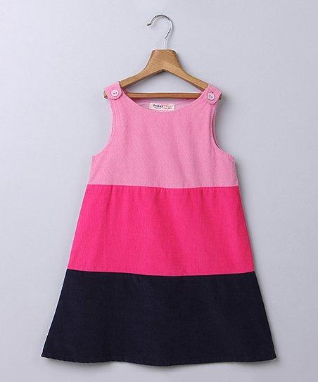 3fa4c0534153c love this product Black & Pink Stripe Corduroy Dress - Newborn & Infant