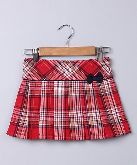f03eda4de8 love this product Red & Navy Plaid Pleated Skirt - Newborn, Infant, Toddler  & Girls