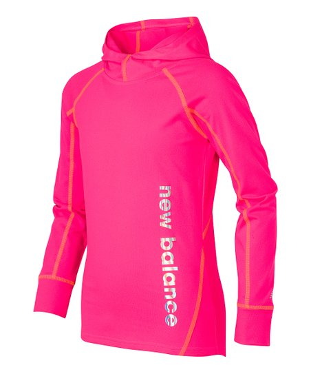 cda57df4e5bb2 New Balance Alpha Pink High-Collar Hoodie - Girls | Zulily