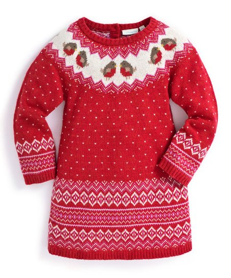 bd39b3f0632 love this product Red Robin Fair Isle Sweater Dress - Toddler
