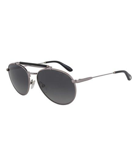 08cdaffa1bacd love this product Silver   Polarized Gray Colin Aviator Sunglasses