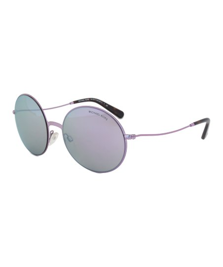 d917be4ee5fb0 love this product Purple Glitter Kendall ll Mirror Round Sunglasses