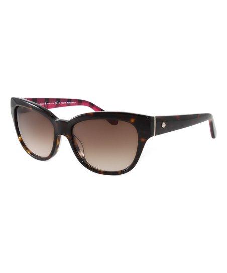3d0504bac66 Kate Spade Brown Aisha Cat-Eye Sunglasses
