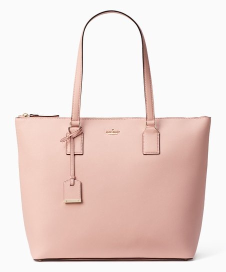 404a6b741 Kate Spade Pink Sunset Cameron Street Large Lucie Leather Tote | Zulily