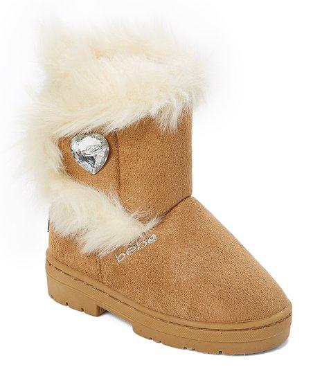 4a4dd5019 bebe girls Tan Rhinestone-Accent Winter Boot