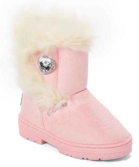 5520c05c0 bebe girls Light Pink Rhinestone-Accent Winter Boot