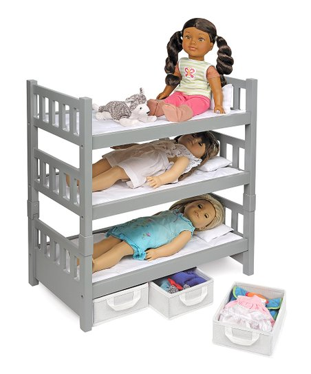 1 2 3 Convertible Storage Bunk Bed Set For 18 Dolls Zulily