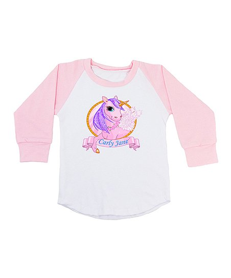 af4062eb love this product Pink Personalized Unicorn Raglan Tee - Infant, Toddler &  Girls