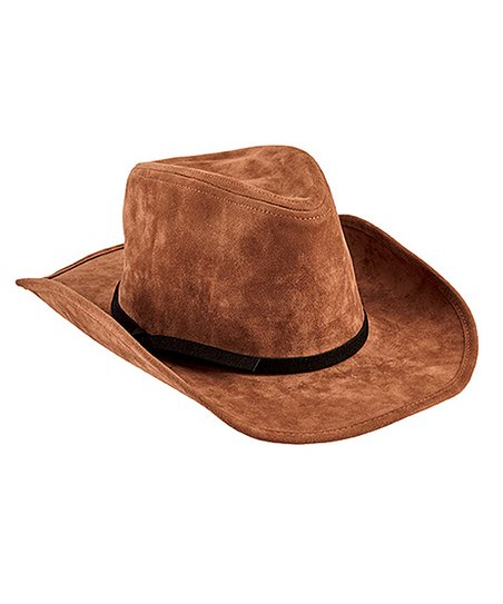 fa847e41f9a3a8 San Diego Hat Company Brown Faux Suede Cowboy Hat | Zulily