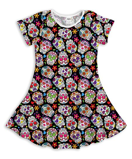 9513e9bddfe love this product Black Sugar Skull A-Line Dress - Toddler   Girls