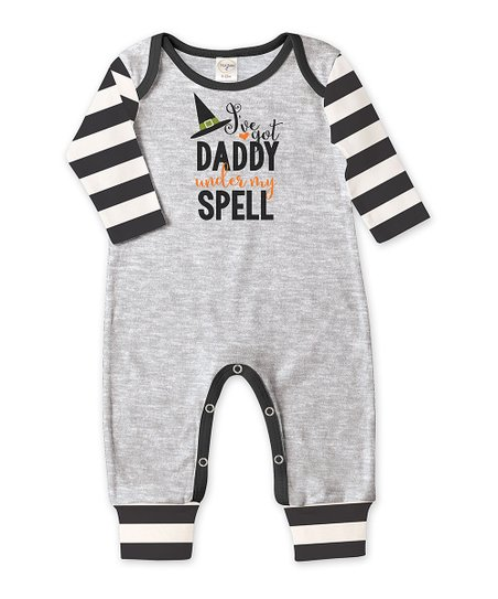 be7e0978726 love this product Heather Gray   Black Striped  Under My Spell  Playsuit -  Infant