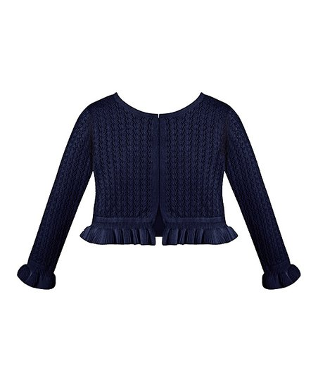 c4c39d9bccd love this product Navy Ruffle Sweater Cardigan - Infant