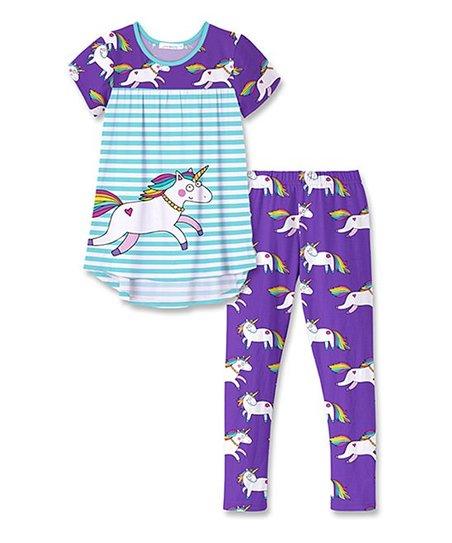 8fd7dbaceb5b7 love this product Purple Unicorn & Turquoise Tunic & Leggings - Infant,  Toddler & Girls