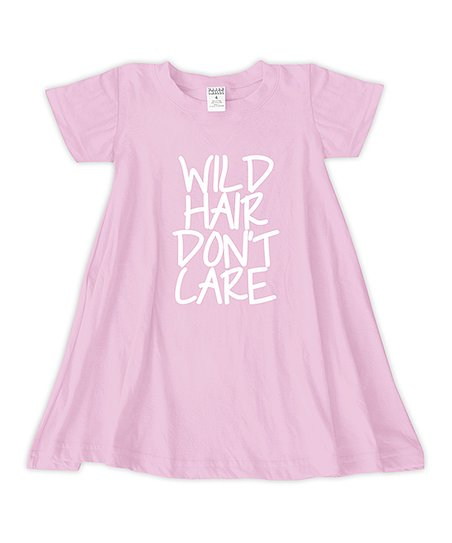 a797892d4881 love this product Light Pink  Wild Hair Don t Care  T-Shirt Dress - Toddler    Girls