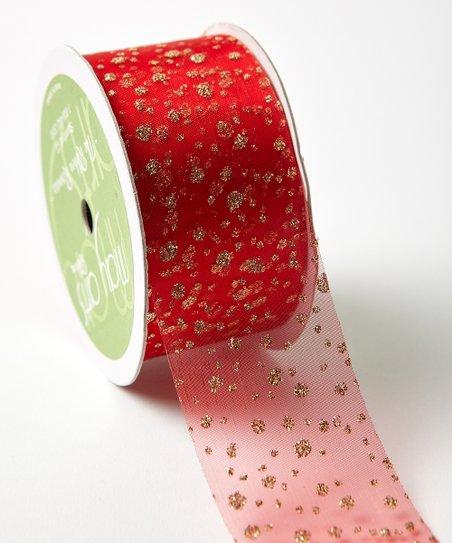 May Arts Beautiful Sheer Glitter Dots Ribbon