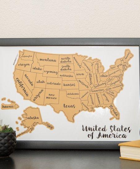 JetsetterMaps™ Scratch Your Travels USA Map Wall Art   Zulily
