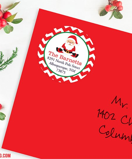 2a36ec4ab love this product Sitting Santa Christmas Personalized Address Labels - Set  of 48