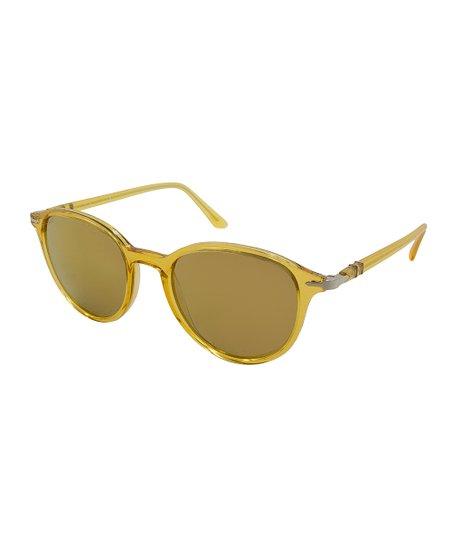 340c7ed29e Persol Yellow Round Sunglasses - Women