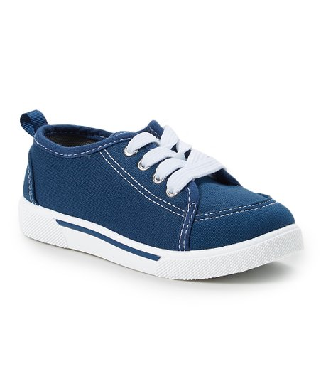 886834b417b3af love this product Navy   White Stripe Sneaker - Kids