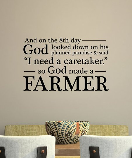 Wall Quotes By Belvedere Designs God Made A Farmer Wall Quotes