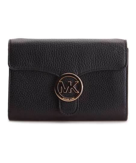 906dab9c9902 Michael Kors Black Vanna Phone Leather Crossbody Bag