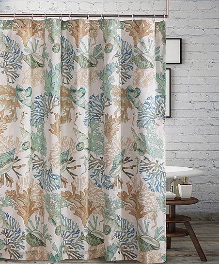 Jade Atlantis Shower Curtain